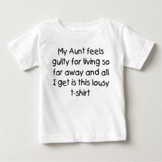 Aunt lives far away baby T-Shirt