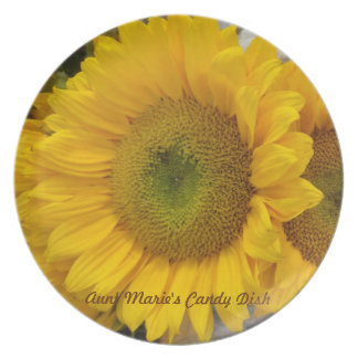 Aunt Marie's Sunflower Plate