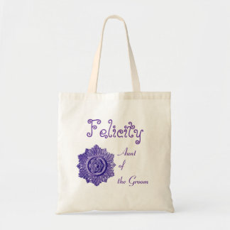 Aunt of the Groom Vintage Ornamental Wedding Tote Bag