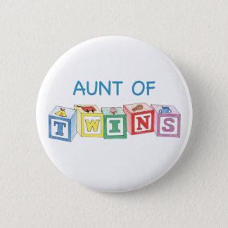 Aunt of Twins Blocks 2 Inch Round Button