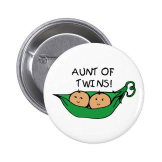 Aunt of Twins Pod 2 Inch Round Button