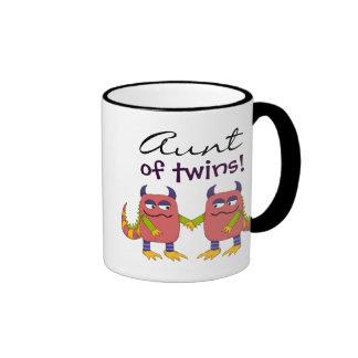 Aunt of Twins Ringer Coffee Mug