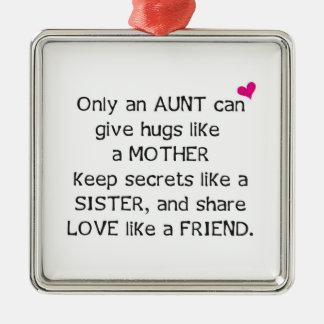 Aunt Quote Metal Ornament