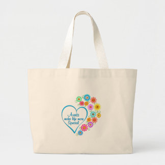 Aunt Special Heart Large Tote Bag