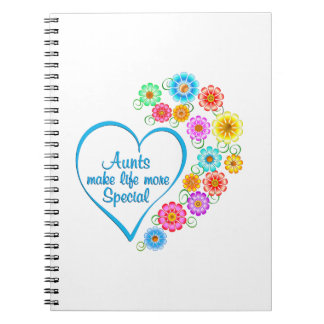 Aunt Special Heart Notebook