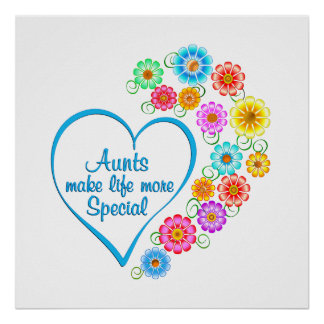 Aunt Special Heart Poster