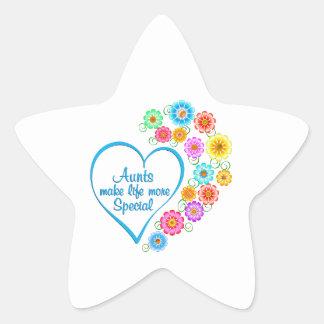 Aunt Special Heart Star Sticker