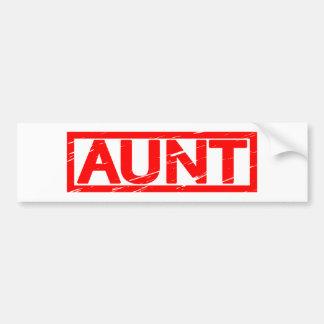 Aunt Stamp Bumper Sticker