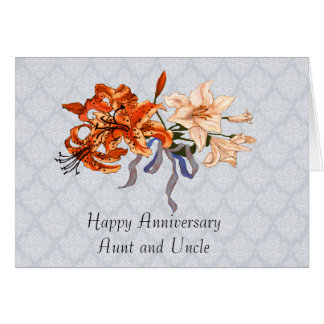 Aunt & Uncle Anniversary With Day Lilies Card