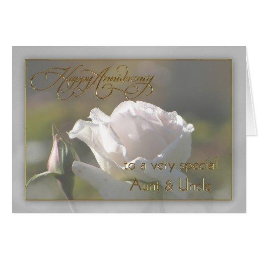 Aunt uncle wedding anniversary card zazzle