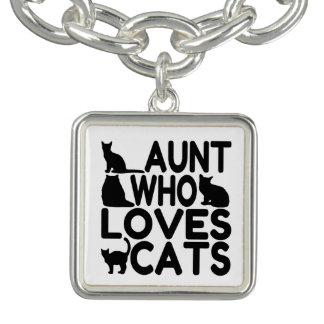 Aunt Who Loves Cats Bracelet