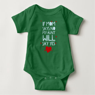 Aunt Will Say Yes Baby Bodysuit