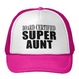 Auntie Aunts Board Certified Super Aunt Hats