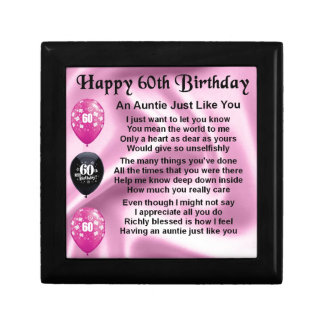 Auntie Poem - 60th Birthday Gift Box