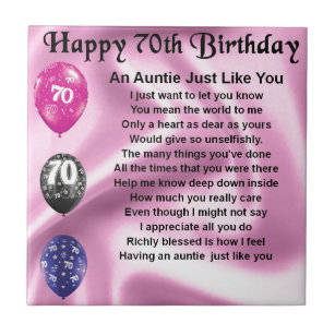Aunts 70th Birthday Gifts On Zazzle CA