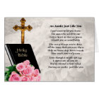 Auntie Poem - Bible & Roses Card
