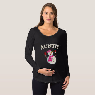 Auntie Snowman T-shirt Pajama Family Matching Gift