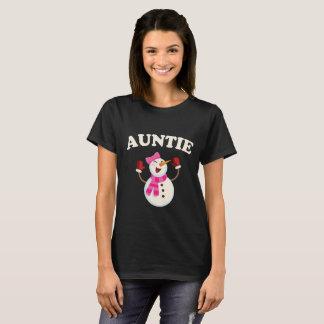 Auntie Snowman T-shirt Pajama Family Matching Gift