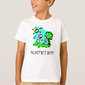 Auntie's Boy Stick Figure T-Shirt