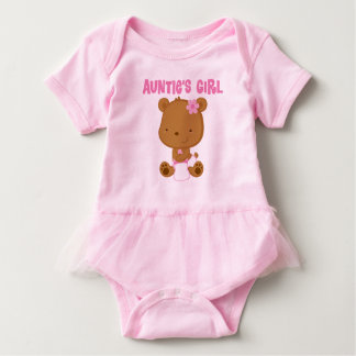 Auntie's Girl baby bear girls Tutu Tee