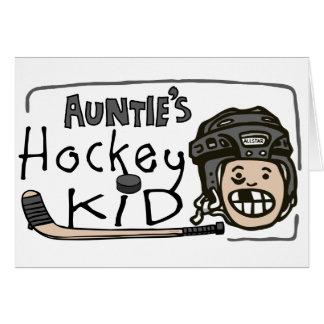 Auntie's Hockey Kid Greeting Card
