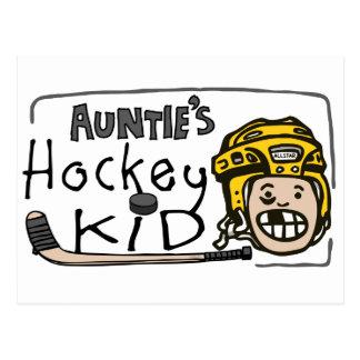 Auntie's Hockey Kid Postcard
