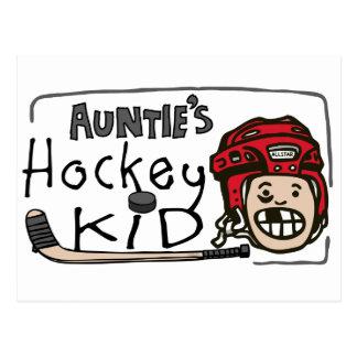 Auntie's Hockey Kid Post Cards