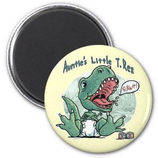 Auntie's Little T. Rex by Mudge Studios 2 Inch Round Magnet
