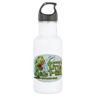 Auntie's Little T Rex Oval 532 Ml Water Bottle