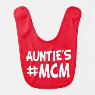 Auntie's MCM funny baby boy nephew bib