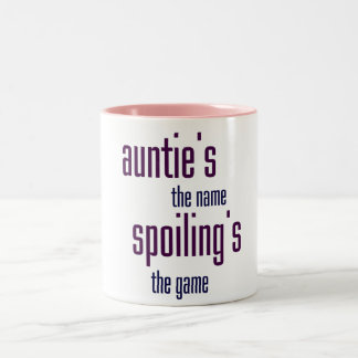 Auntie's the name, spoiling's the game Two-Tone coffee mug