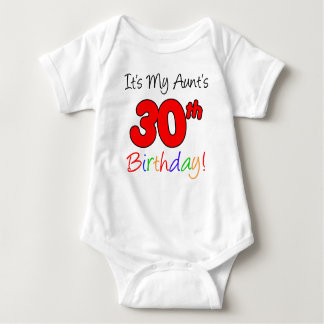 Aunt's 30th Birthday Baby Bodysuit