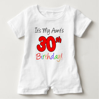 Aunt's 30th Birthday Baby Romper