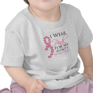 Aunt's Inspiring Courage - Breast Cancer Tee Shirt