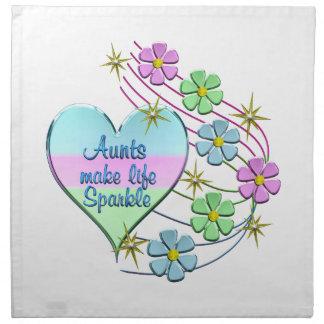 Aunts Make Life Sparkle Napkin