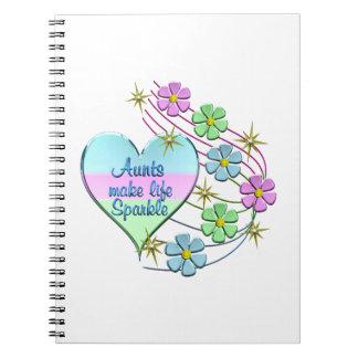 Aunts Make Life Sparkle Notebooks