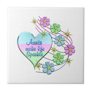 Aunts Make Life Sparkle Tile