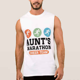 Aunt's Marathon Cheer Team Sleeveless Shirt