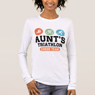 Aunt's Triathlon Cheer Team Long Sleeve T-Shirt