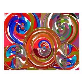 Aura Cleaning Circles - Reiki Meditation Mandala 7 Postcard