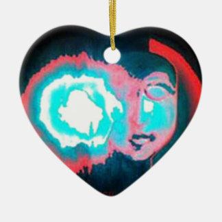 AURA OF A MAYAN CERAMIC HEART ORNAMENT
