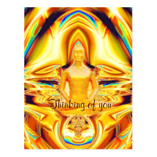 Aura,strength & Meditation_ Postcard