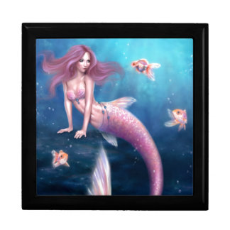 Aurelia Goldfish Mermaid Art Keepsake Box