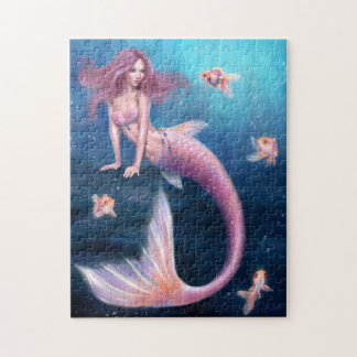 Aurelia Goldfish Mermaid Art Puzzle