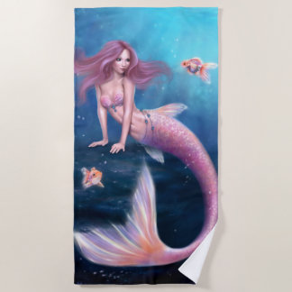 Aurelia Goldfish Mermaid Beach Towel