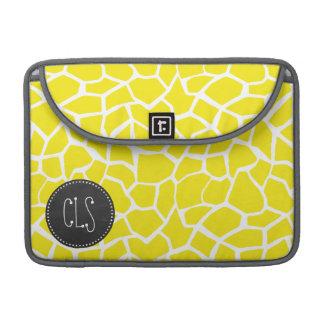 Aureolin Yellow Giraffe; Chalkboard look Sleeves For MacBook Pro