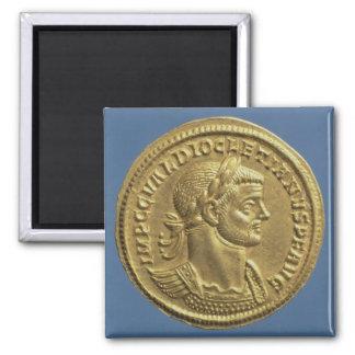 Aureus  of Diocletian  cuirassed Magnet