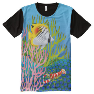 Auriga Butterfly Fish Coral Reef Shirt