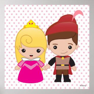 Aurora and Prince Philip Emoji 3 Poster