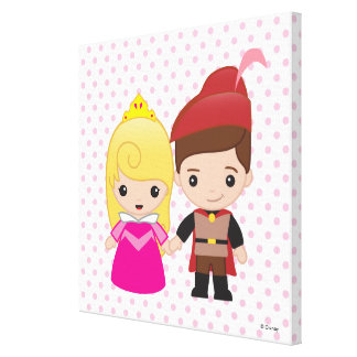 Aurora and Prince Philip Emoji 4 Canvas Print